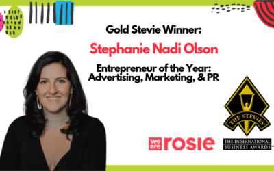 WE ARE ROSIE CEO NAMED ENTREPRENEUR OF THE YEAR – 2019 STEVIEⓇ AWARDS